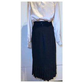 Etienne Aigner-vintage 80s skirt-Black