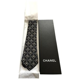 Chanel-Ties-Navy blue