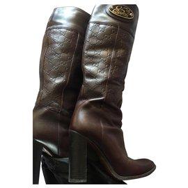 Gucci-boots-Marron