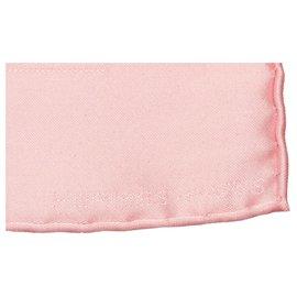 Hermès-Hermes White Printed Silk Scarf-Pink,White