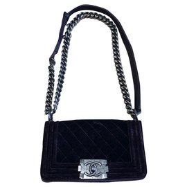 Chanel-Chanel bag, BOY model-Purple