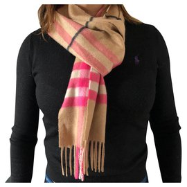 Burberry-Scarves-Black,Pink,White,Beige