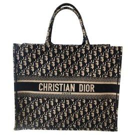Dior-Tote book-Grey,Navy blue
