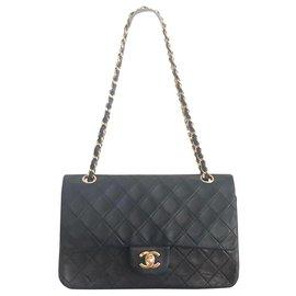 Chanel-Chanel Vintage Timeless Classic-Black,Hazelnut