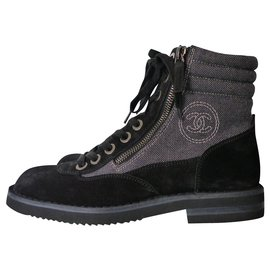 Chanel-Lacets-Gris anthracite