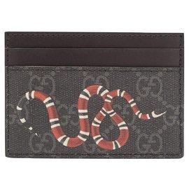 Gucci-Porte-cartes Gucci neuf-Gris