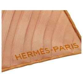 Hermès-Hermes Pink Pleated Silk Scarf-Pink
