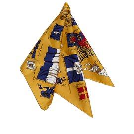 Hermès-Hermes Yellow Printed Silk Scarf-Multiple colors,Yellow