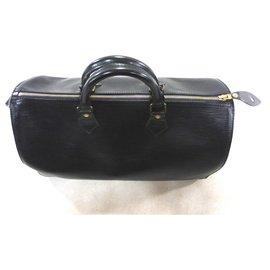 Louis Vuitton-SPEEDY 35 CUIR EPI NOIR-Noir