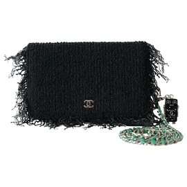 Chanel-Handbags-Black,Green