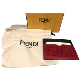 Fendi-Fendi card wallet new-Red