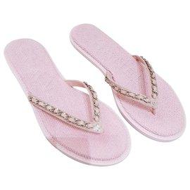 Chanel-Chanel flip flops-Pink