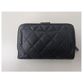Chanel-Timeless/Classique Long Flap Wallet-Black