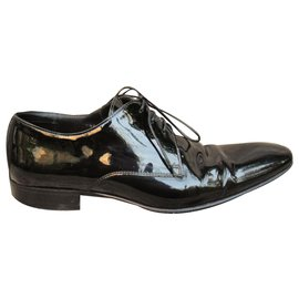 Hugo Boss-varnished derbies Boss p 40 Perfect condition-Black