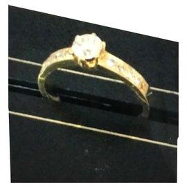 No Brand-Neuf solitaire or jaune et diamants-Doré