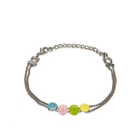 Dior-Dior Silver Bracelet logo-Silvery,Multiple colors