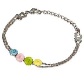 Dior-Logo Bracelet Argent Dior-Argenté,Multicolore
