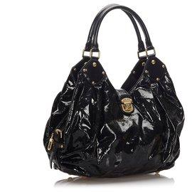 Louis Vuitton-Hobo Louis Vuitton Noir Mahina Surya XL-Noir