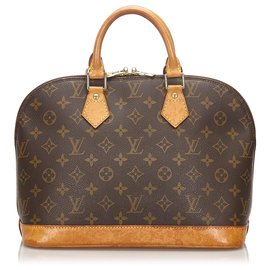 Louis Vuitton-Louis Vuitton monogramme brun Alma PM-Marron