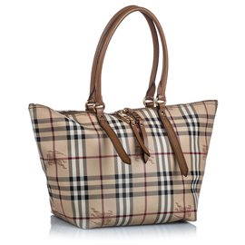 Burberry-Burberry Brown Haymarket Check Salisbury Tote-Brown,Multiple colors,Beige