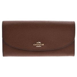 Coach-Coach Zip purse outlet-Brown