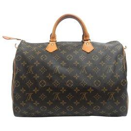 Louis Vuitton-Louis Vuitton Monogram Speedy 35-Marron