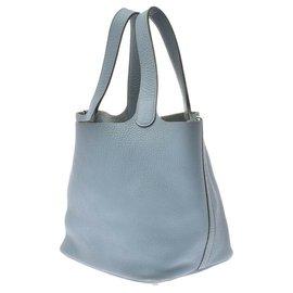Hermès-Hermès Picotin MM shell-Blue
