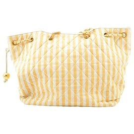 Chanel-Chanel Matelasse Tote Bag-Orange