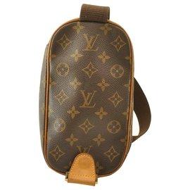 Louis Vuitton-Louis Vuitton Monogram Pochette Gange-Marron