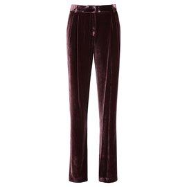 Michael Kors-Velvet trousers-Purple