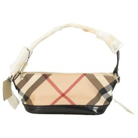 Burberry-Burberry Nova Check Hand Bag-Beige