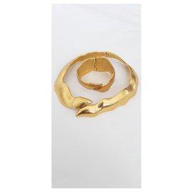 Yves Saint Laurent-Ensembles de bijoux-Doré