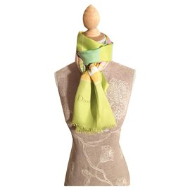 Christian Dior-Scarves-Light green