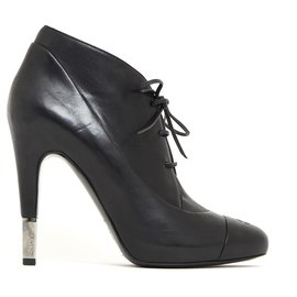 Chanel-DERBY BLACK FR39-Black
