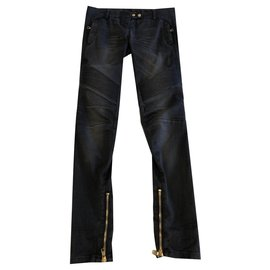 Balmain-jeans-Gris anthracite