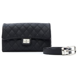 Chanel-2:55 CLUTCH ON BELT NEW-Noir