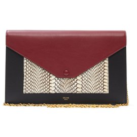 Céline-POCKET PYTHON NEW-Noir,Bordeaux