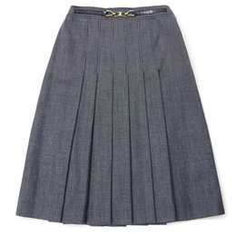 Céline-NAVY PERFECT PLEATS FR36-Bleu Marine