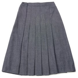 Céline-NAVY PERFECT PLEATS FR36-Navy blue