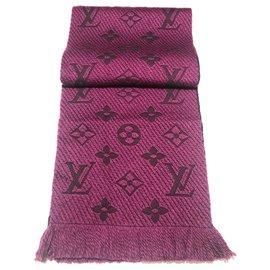 Louis Vuitton-Louis Vuitton logomania scarf-Other