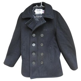 Schott-Schott pea coat US model 740 N size 48-Navy blue