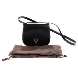 """Moynat-Moynat """"Mignon"""" limited series shoulder bag in black box leather, new condition!-Black"""