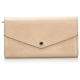 Louis Vuitton-Louis Vuitton Brown Epi Portefeuille Sarah-Brown,Beige
