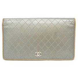 Chanel-Chanel Portefeuille long Coco Mark Coco Mark-Argenté