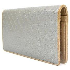 Chanel-Chanel Chanel Coco Mark Long Wallet Purse-Silvery