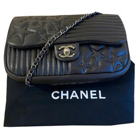 Chanel-Chanel Timeless/Classique 'Stars and Stripes' limited edition flap bag-Black