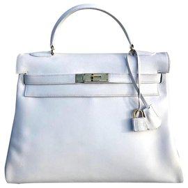 Hermès-Kelly bag 32 Vintage white-White