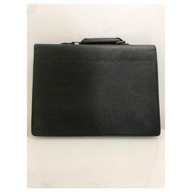 Louis Vuitton-Louis Vuitton Epi Serviette Conseiller-Black