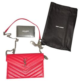Yves Saint Laurent-Totes-Red