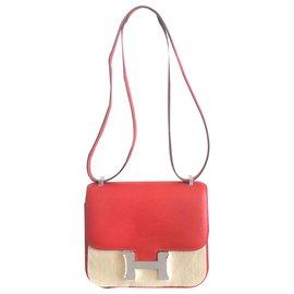Hermès-Sac Hermes Constance Rouge-Rouge